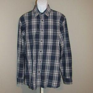 Michael Kors Button Down Shirt Blue White Size XL